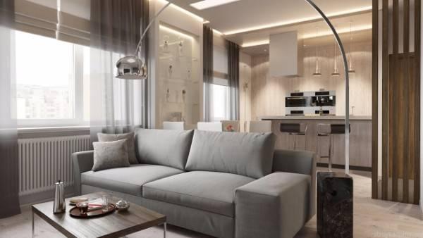 дизайн двухкомнатной квартиры 60 кв м фото, фото 9