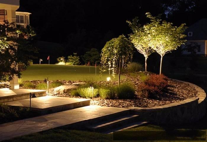 фасадное освещение загородного дома, фото 19