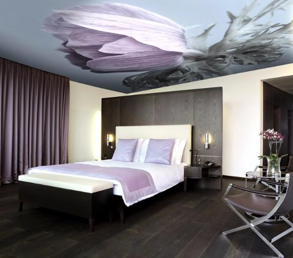 дизайн натяжных потолков в спальне, фото 8