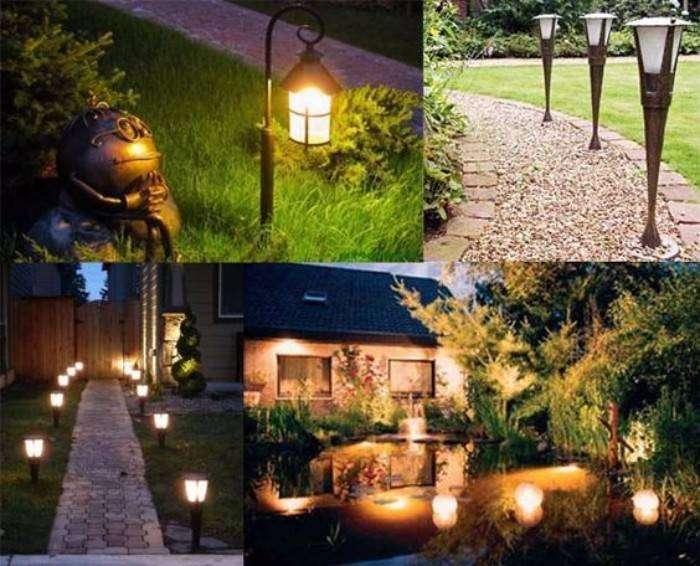 декоративное освещение загородного дома, фото 20