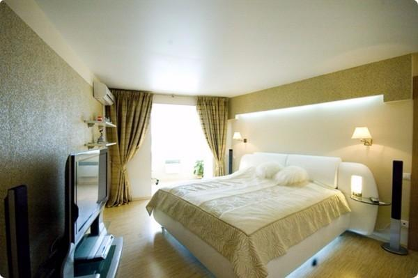 какой потолок лучше сделать в спальне, фото 22