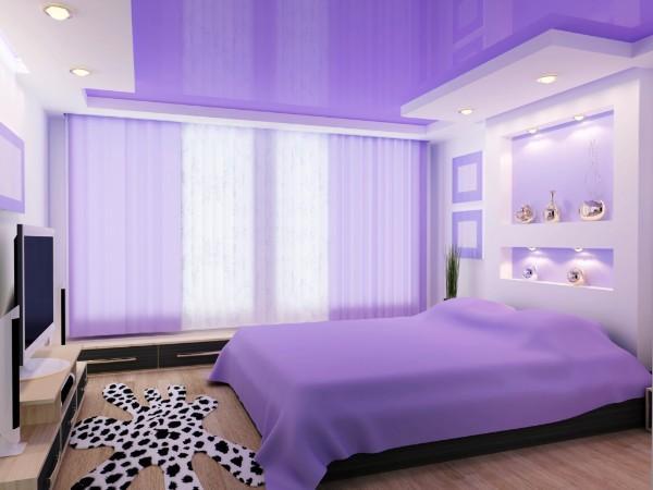 какие потолки в спальне, фото 17