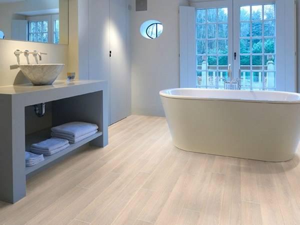 пол в ванной в частном доме, фото 37