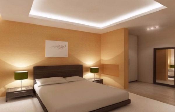 потолок в спальне, фото 20