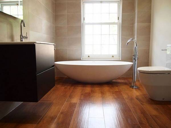 Пол в ванной комнате, фото 38