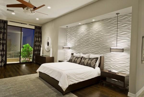 потолок в спальне, фото 40