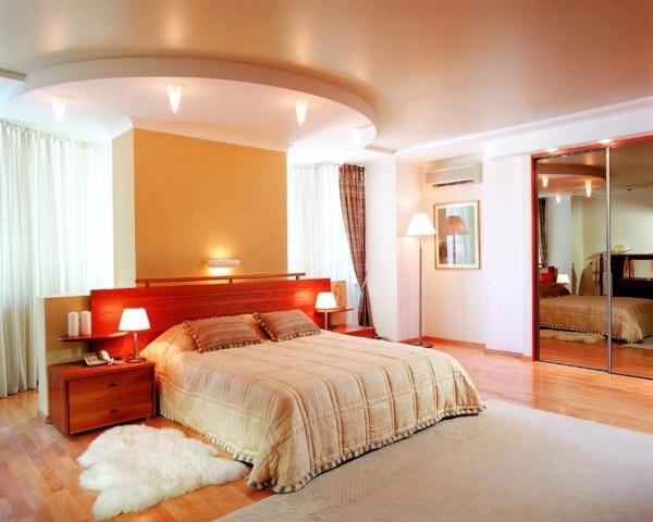 дизайн потолка в спальне фото, фото 11