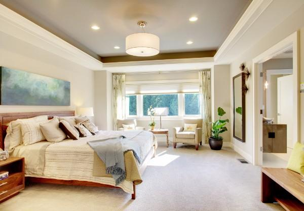 потолок в спальне, фото 12