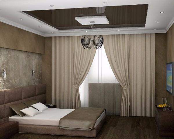 какой потолок лучше сделать в спальне, фото 14