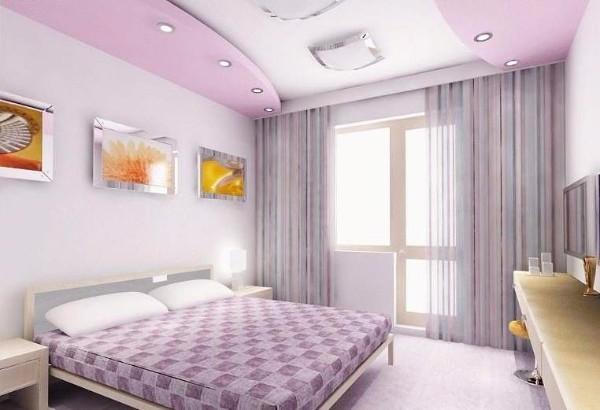 красивые потолки в спальне, фото 15
