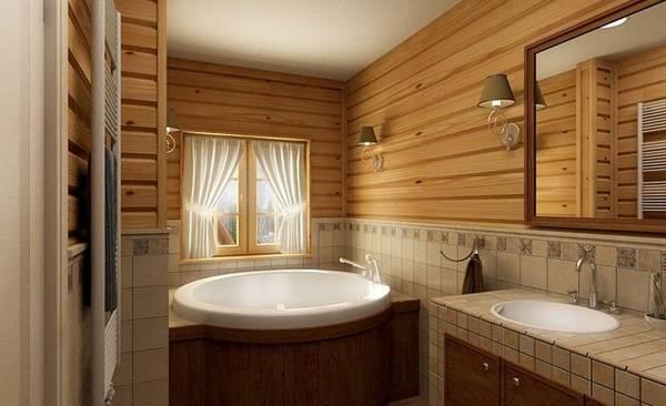 фото ванные комнаты в частном доме