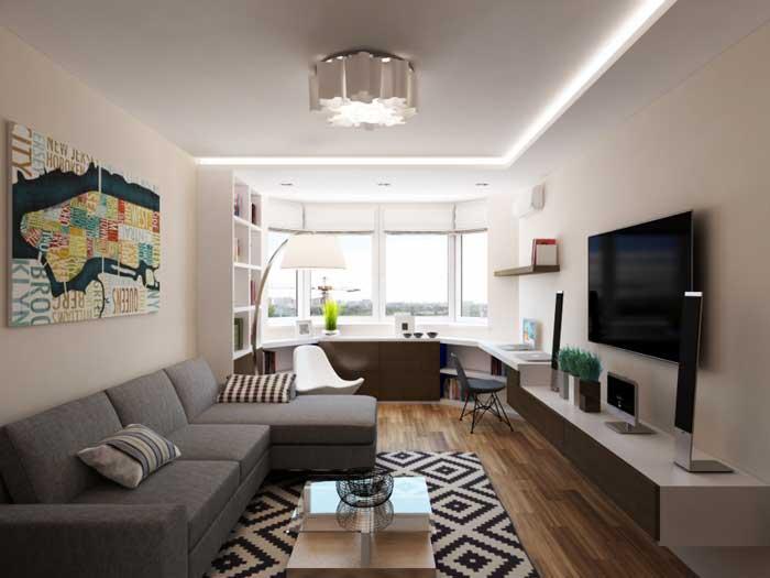 интерьер однокомнатной квартиры фото, фото 5