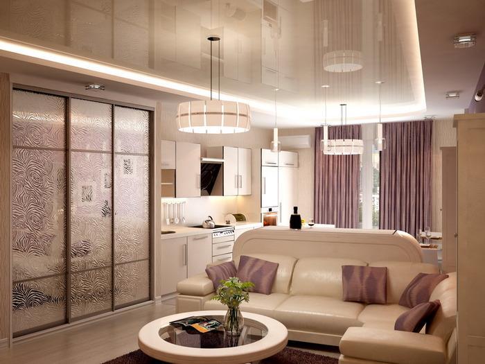 интерьер современной однокомнатной квартиры фото, фото 6