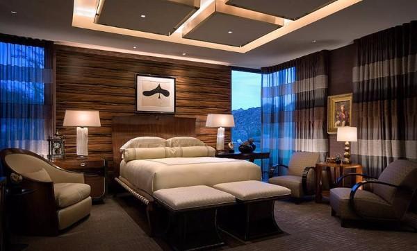 какой потолок лучше сделать в спальне, фото 43