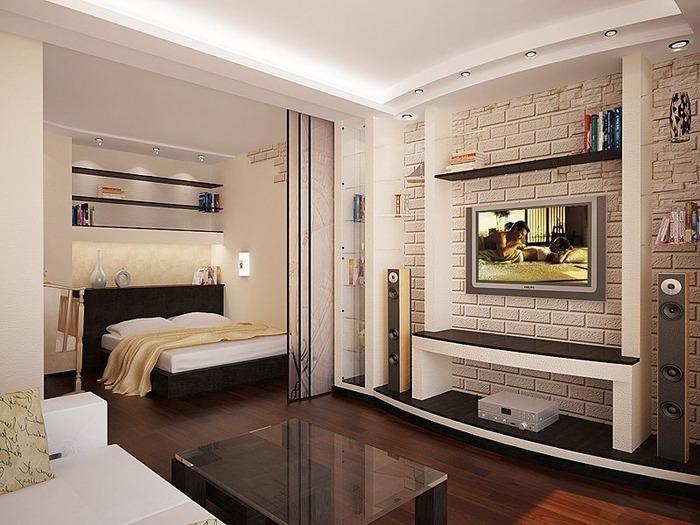 интерьер однокомнатной квартиры фото, фото 8
