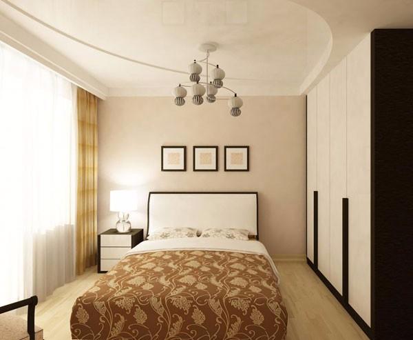 потолок в спальне, фото 44