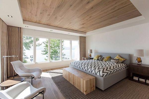 потолок в спальне, фото 45