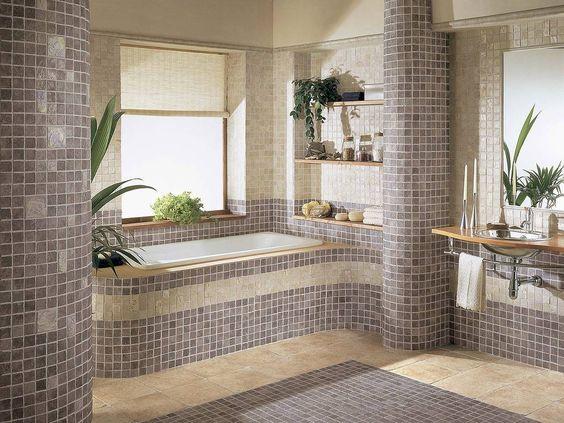 пол в ванной в частном доме, фото 39