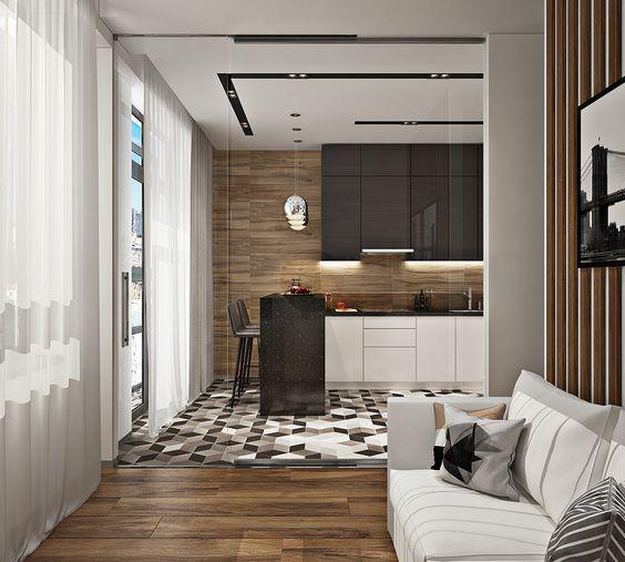 дизайн интерьера двухкомнатной квартиры, фото 10