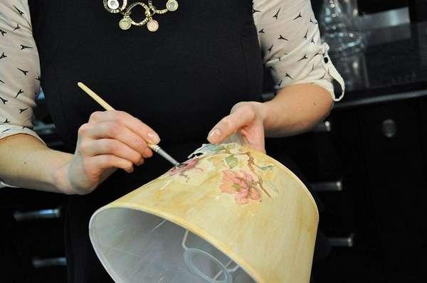 как обновить абажур для торшера своими руками, фото 22