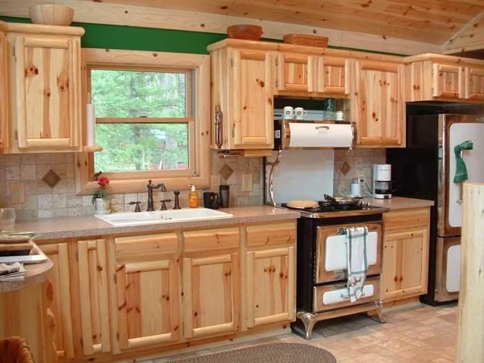 кухня с дерева под старину своими руками, фото 10