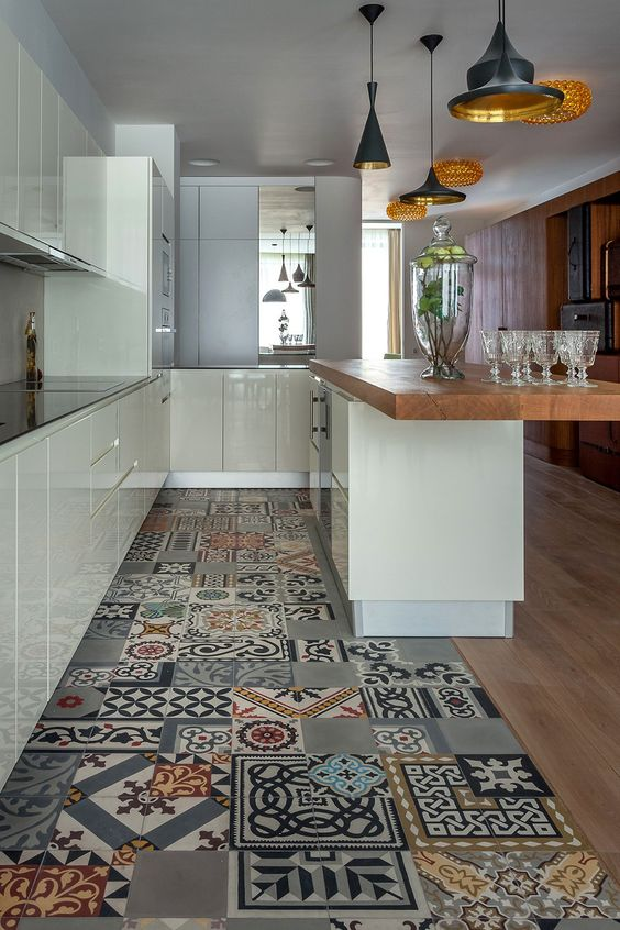 керамическая плитка для кухни на пол фото 1