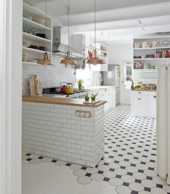 Плитка для кухни на пол: советы по выбору на 26 фото