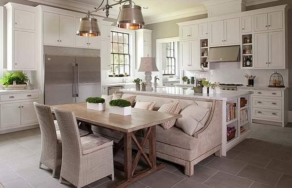 Диван на кухню: обзор разновидностей на 28 красивых фото