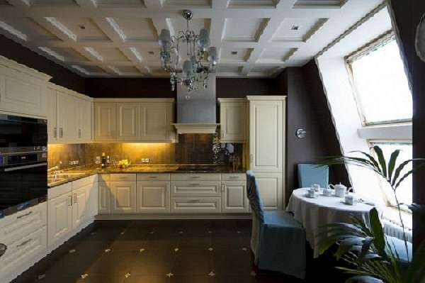 красивая плитка на пол для кухни