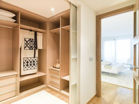 угловые гардеробные комнаты, фото 13