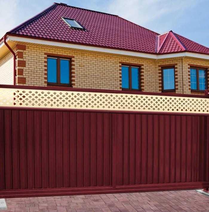 заборы для частного дома из профнастила фото