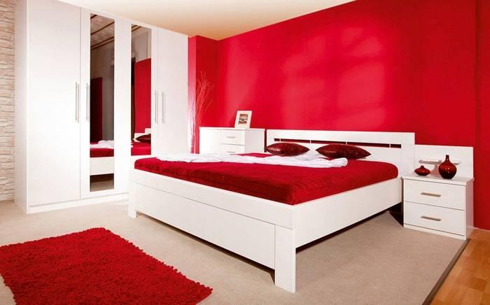 дизайн красной спальни, фото 12