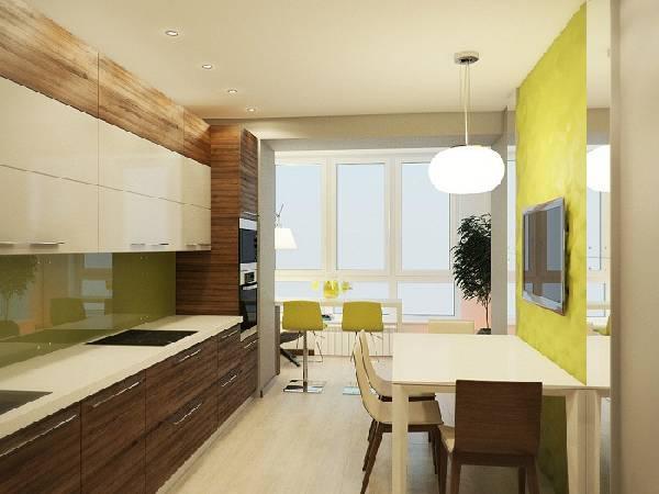 кухня, совмещенная с балконом, фото 1