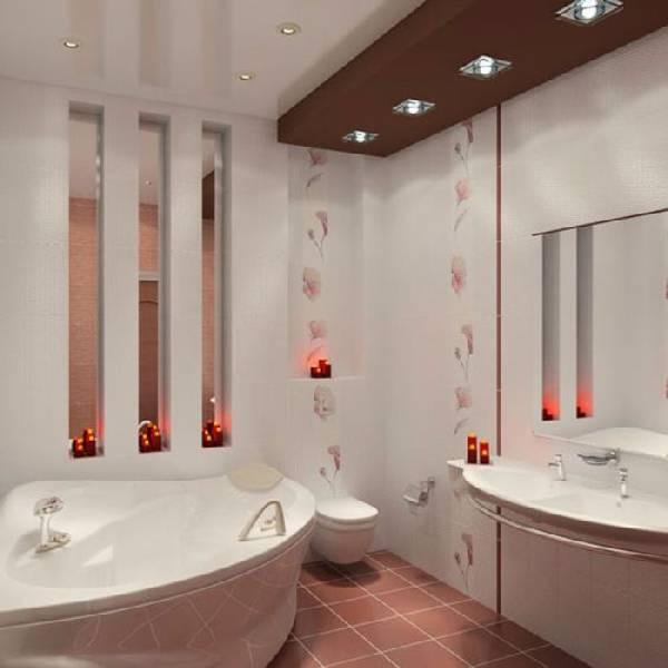 дизайн ванных комнат, совмещенных с туалетом фото, фото 1