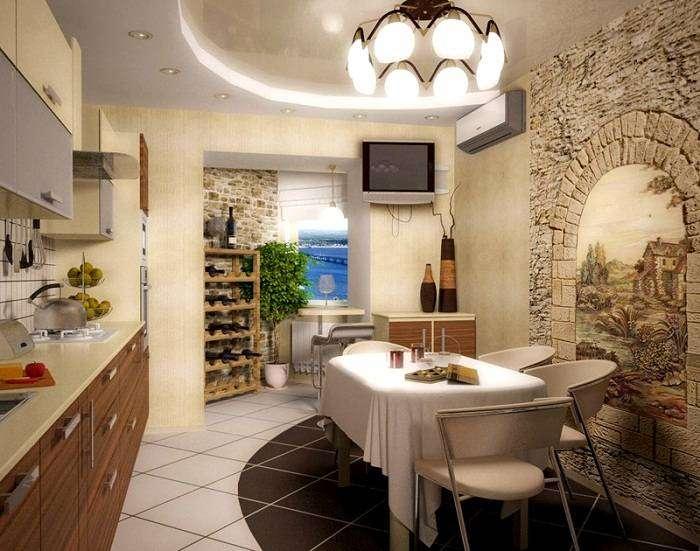 отделка стен декоративным камнем на кухне фото, фото 8