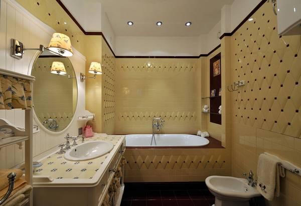 ванная комната в классическом стиле, фото 1