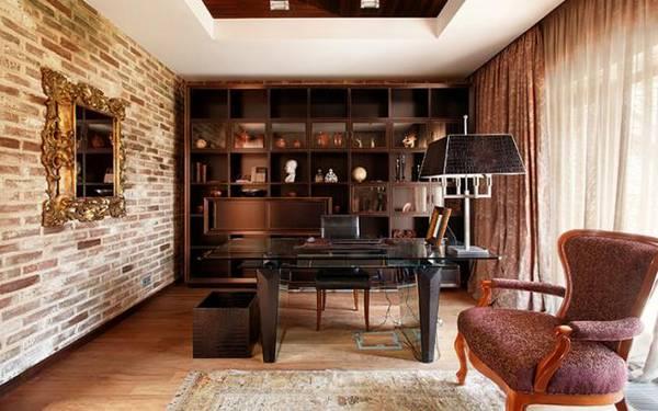 дизайн интерьера кабинета в квартире, фото 10