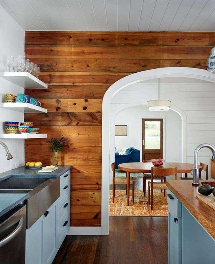 отделка стен ламинатом на кухне, фото 12