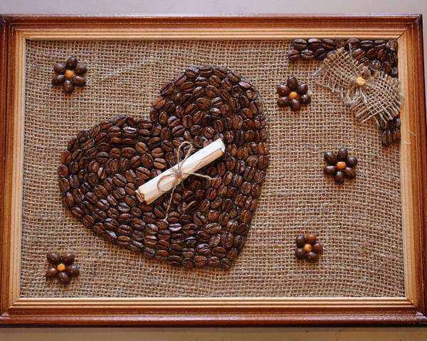Кофейное панно своими руками