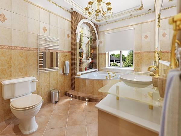 дизайн ванной комнаты в классическом стиле, фото 9