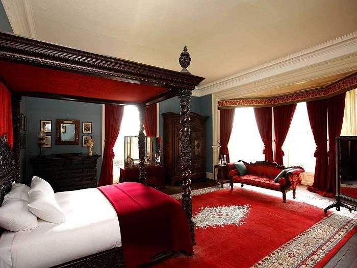 дизайн красной спальни, фото 1
