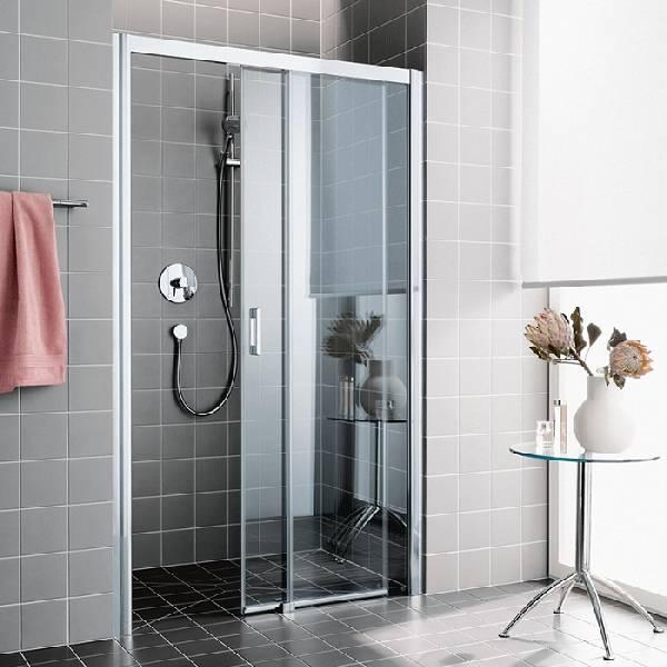 стеклянные двери в душ раздвижные, фото 9