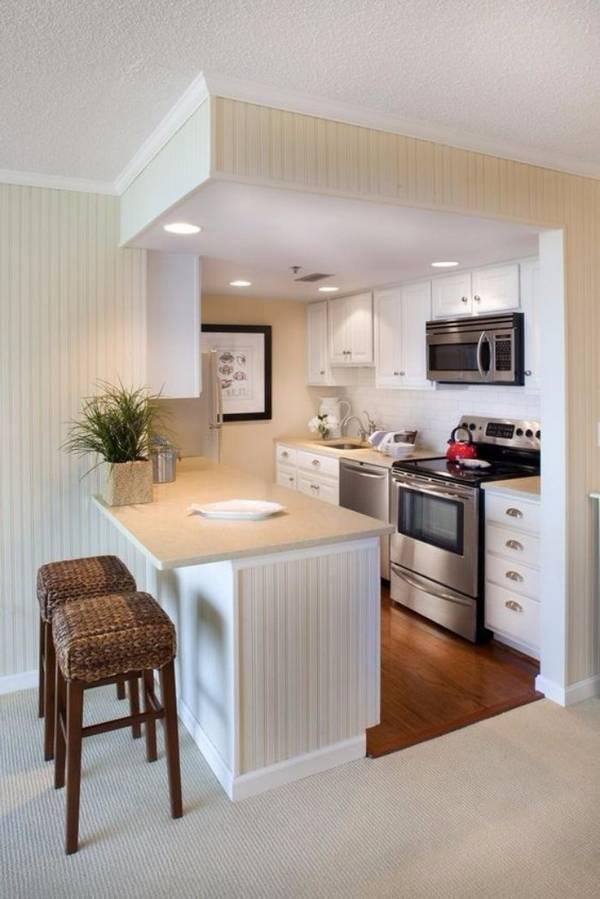 дизайн маленькой кухни с барной стойкой фото, фото 32