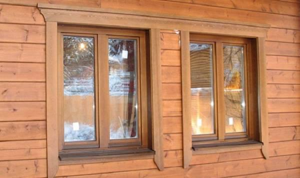 Деревянные наличники на окна внутри дома, фото 17