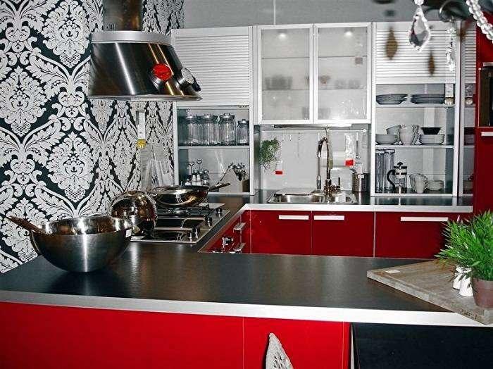 отделка стен на кухне варианты отделочного материала, фото 18
