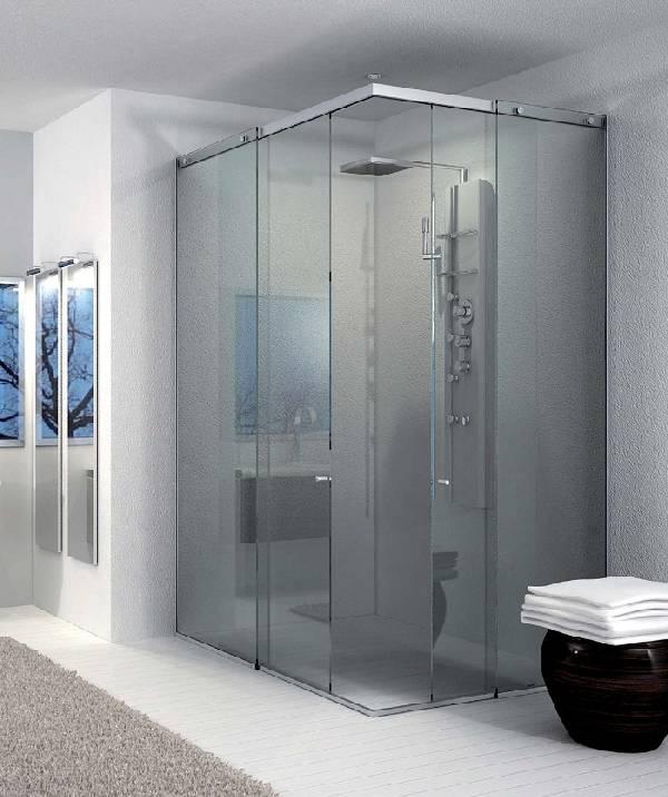 стеклянные двери в душ раздвижные, фото 18