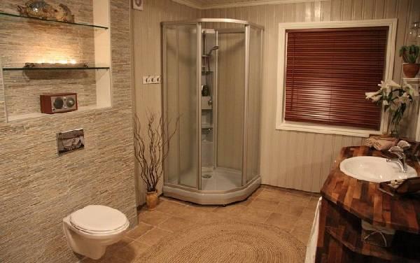 дизайн ванной комнаты с туалетом и стиральной машиной, фото 8