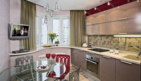 интерьер кухни с эркером фото, фото 13