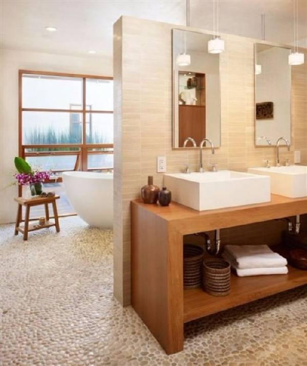 дизайн узкой ванной комнаты совмещенной с туалетом, фото 9
