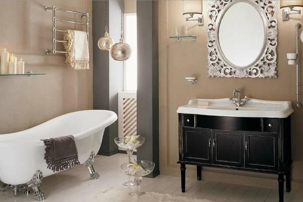 мебель для ванной в классическом стиле, фото 13